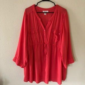 Motherhood maternity 2XL orange 3/4 sleeve blouse